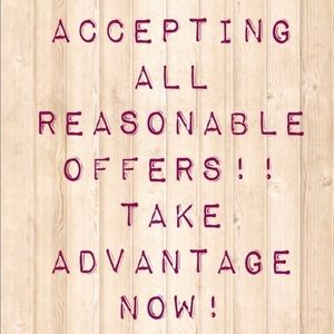Accepting Reasonable Offers ✨🌸